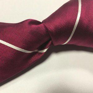 Charles Tyrwhitt Magenta White Pinstriped silk tie